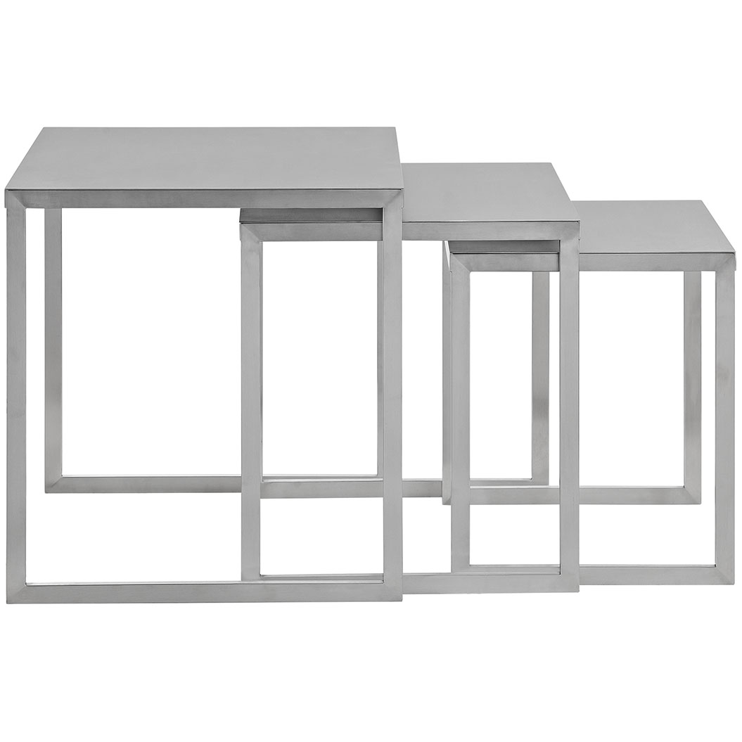 stainless steel nesting table set 2