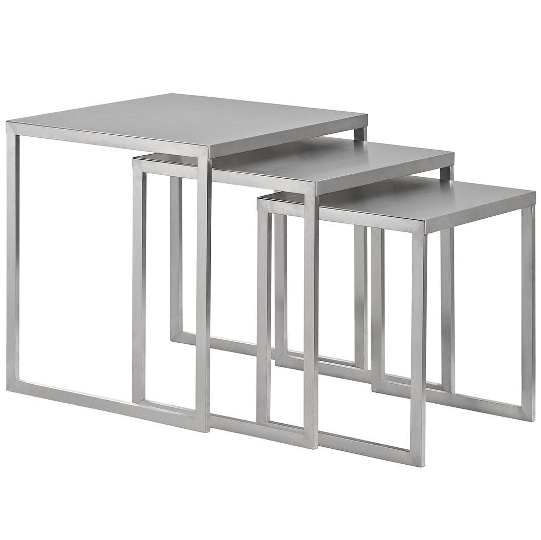 stainless steel nesting table set 3