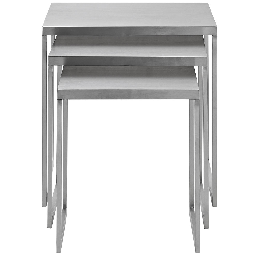stainless steel nesting table set 4