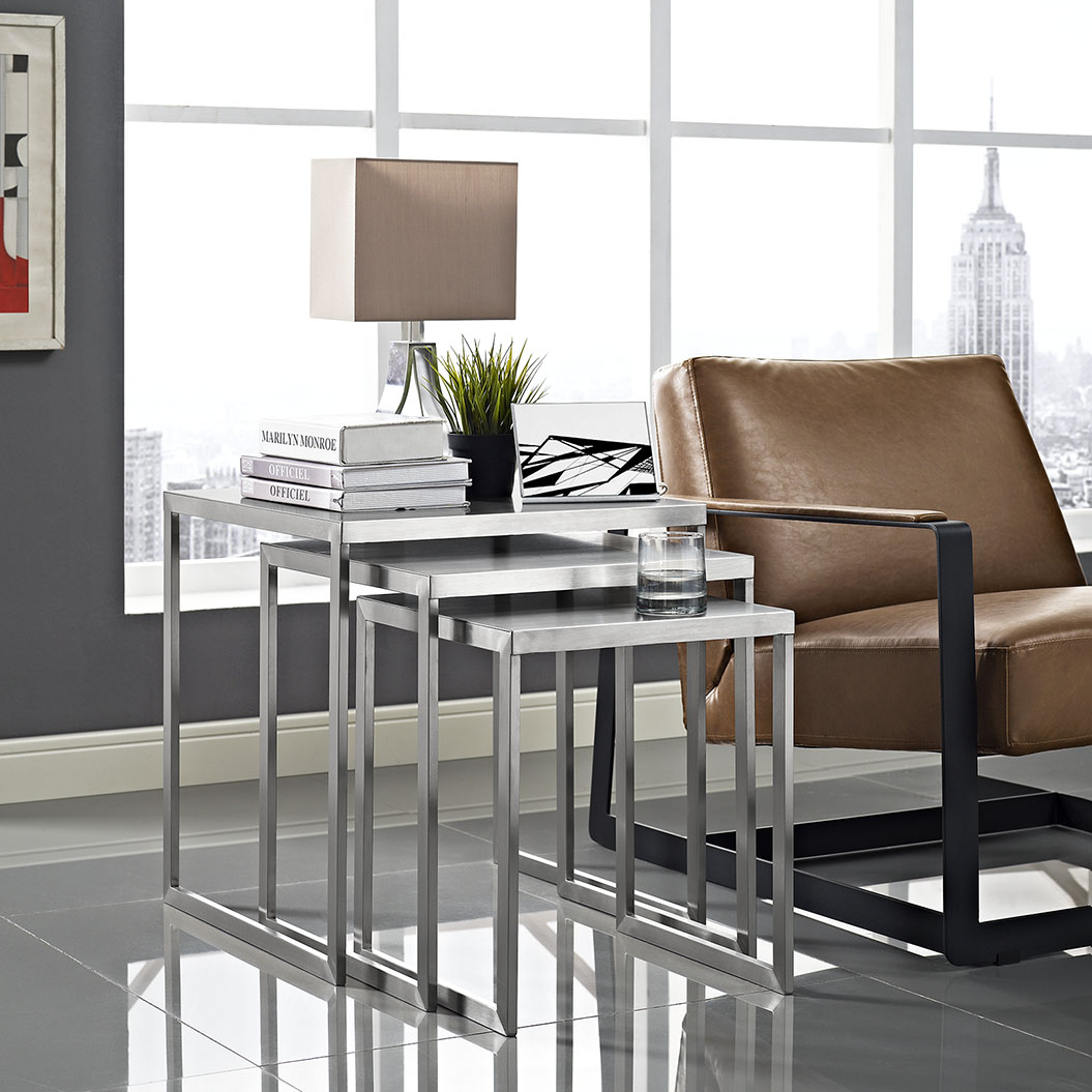 stainless steel nesting table set 5