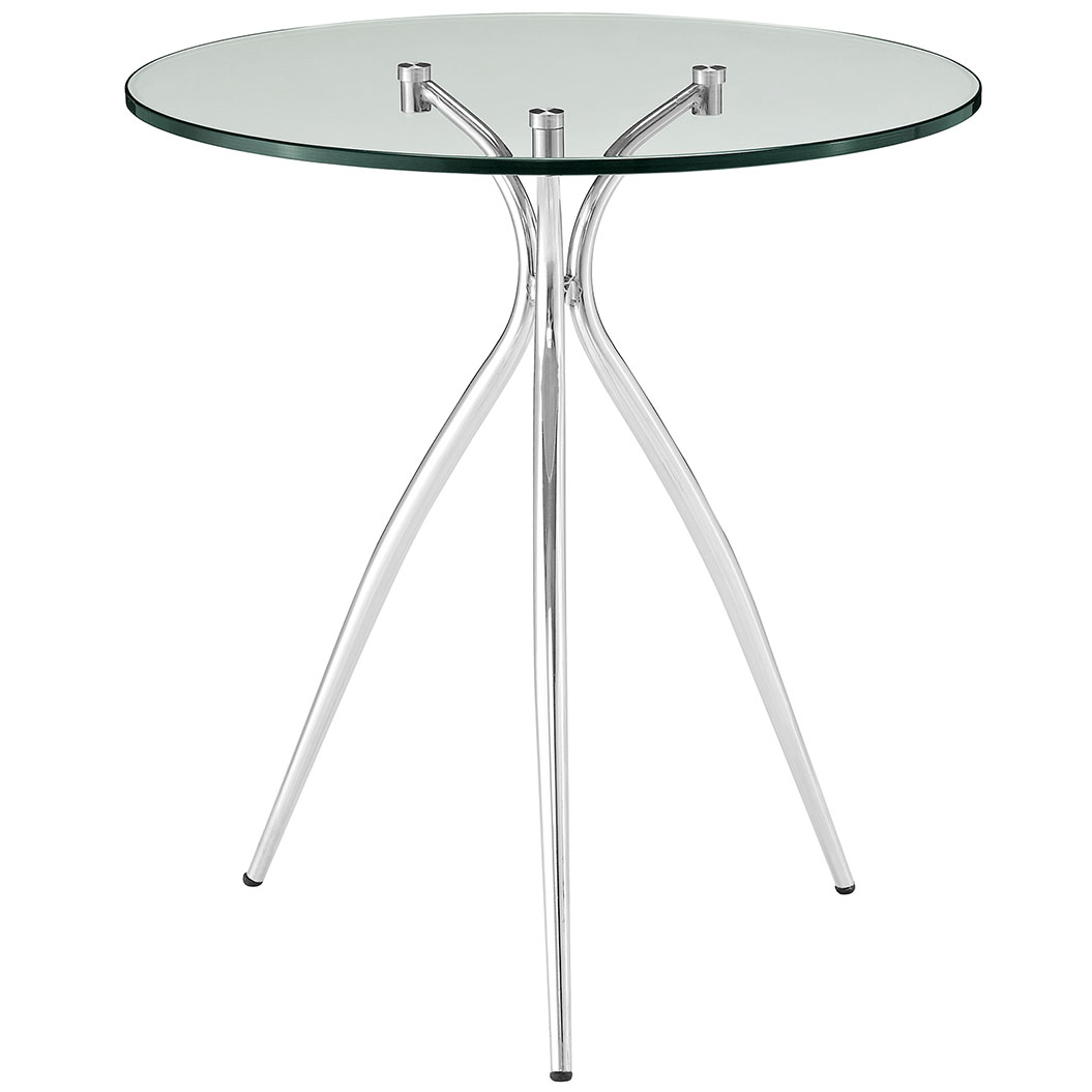 ultra glass chrome side table 1
