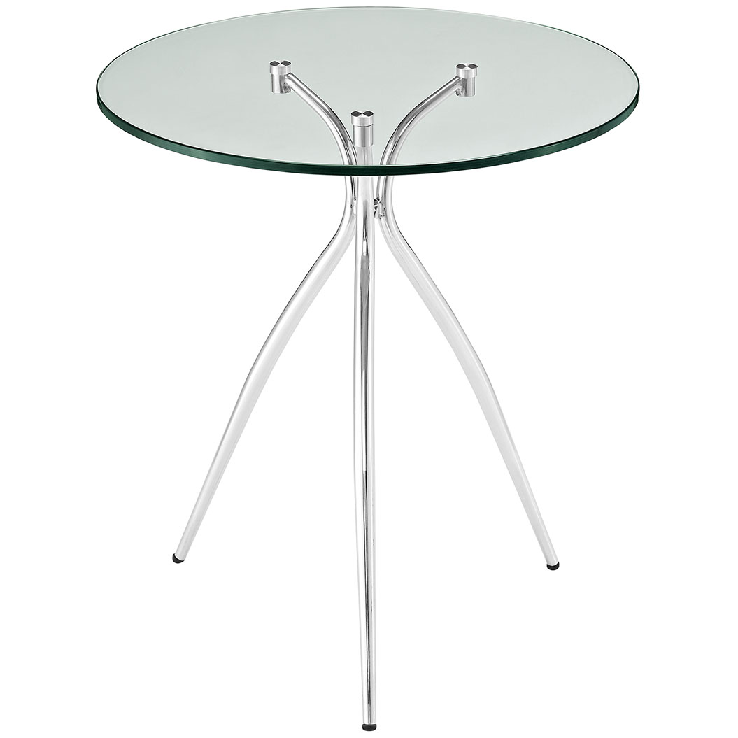 ultra glass chrome side table 2
