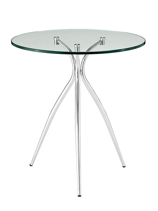 glass chrome side table