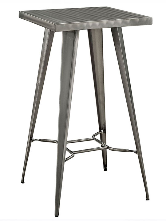 industrial metal bar table