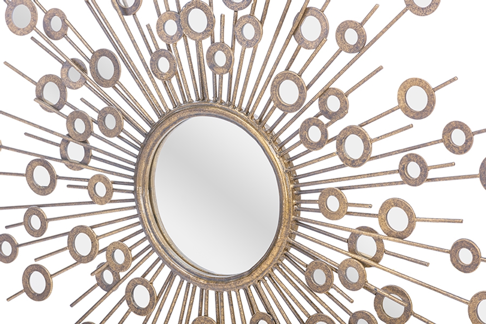 Gold Circle Art Mirror 4