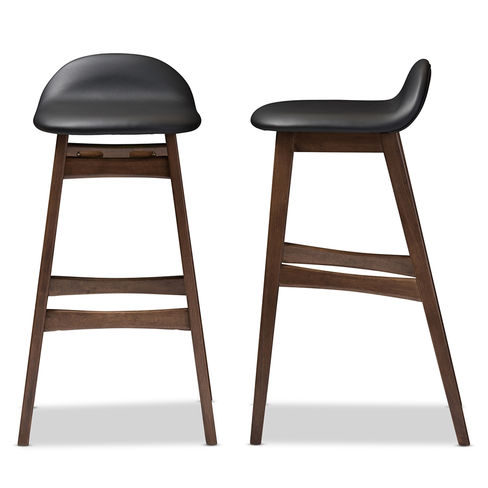 Ploom Leather Mid Century Barstool 2 Set Modern