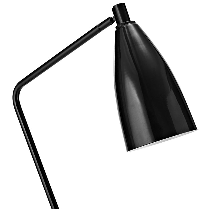 black retro floor lamp