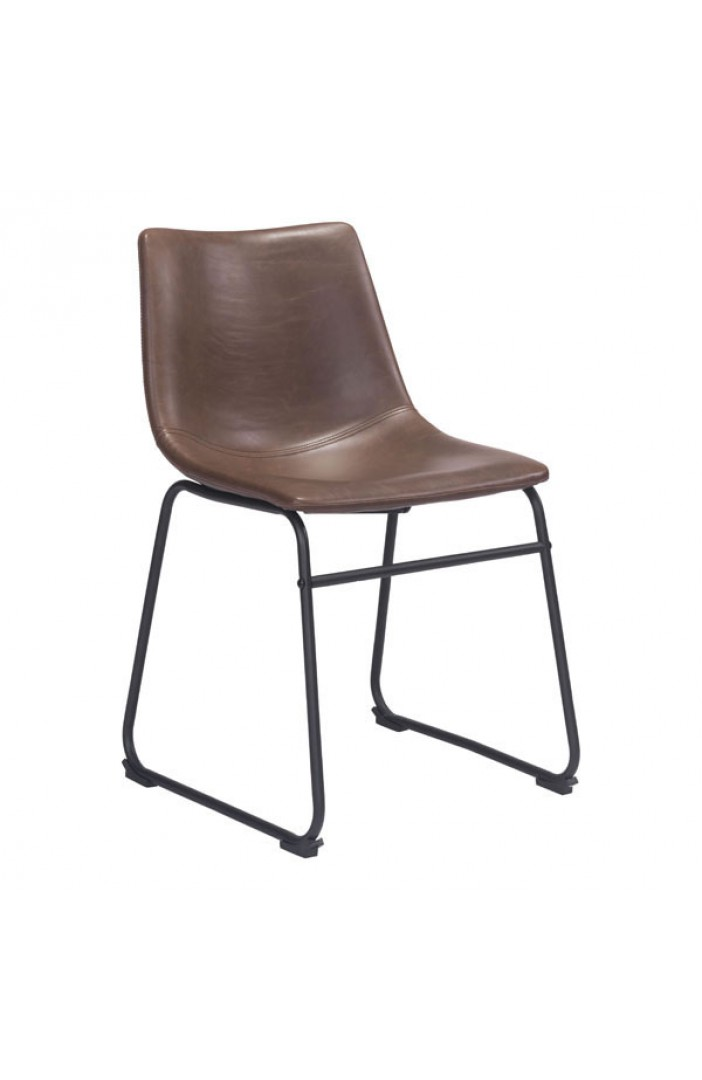 bruno brown leather chair