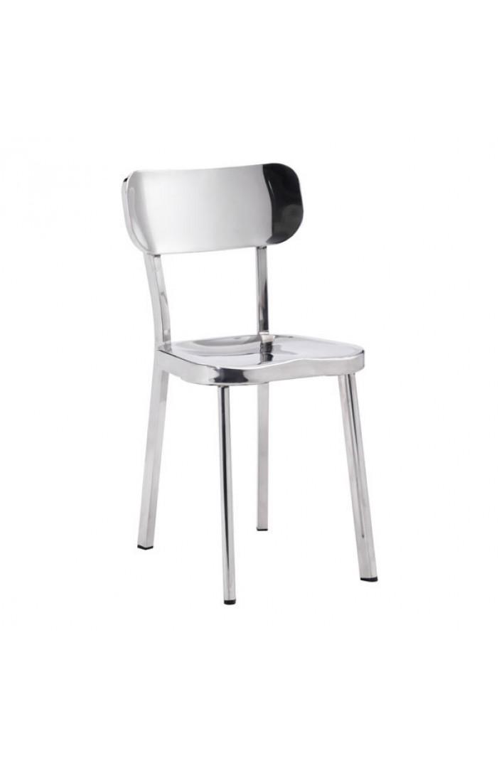 chrome metallic chair