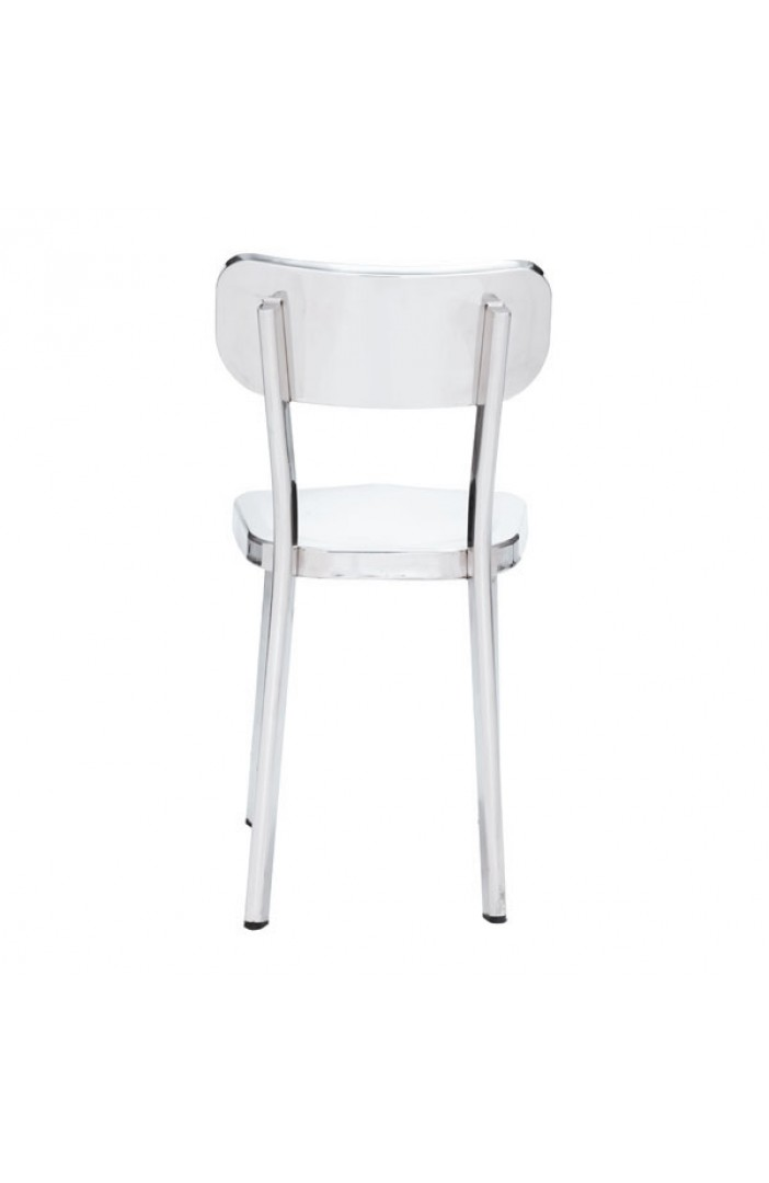 glossy silver chair