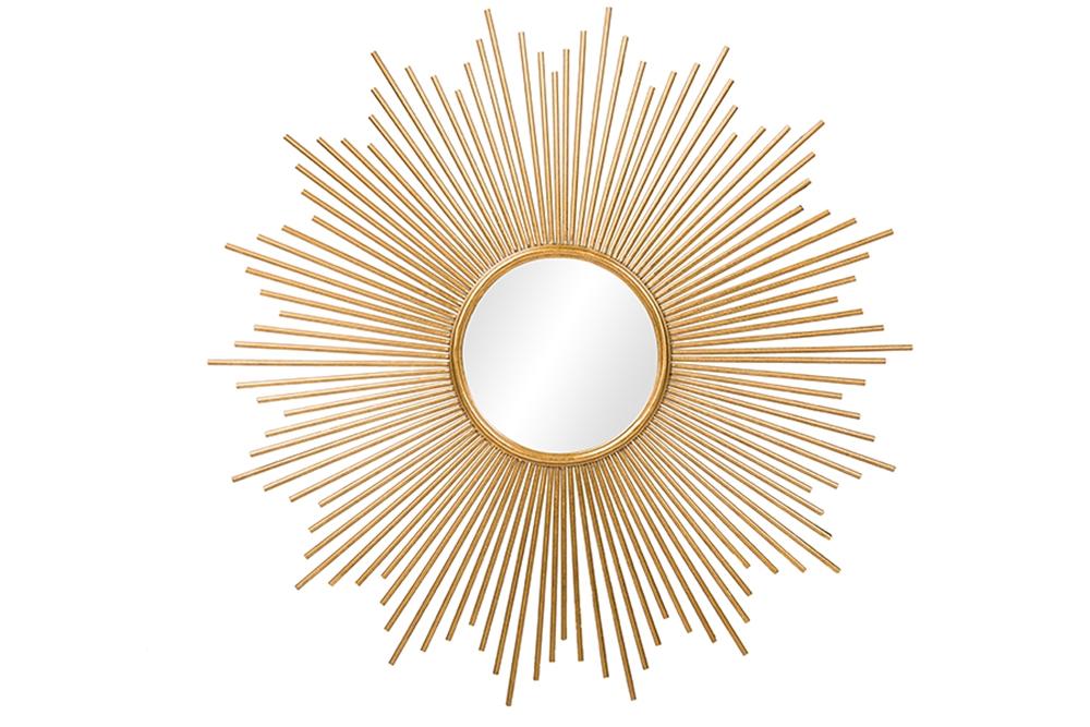 gold starbust mirror