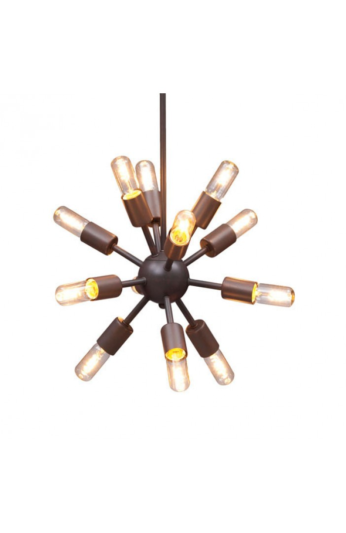 medium sputnik black metal chandelier