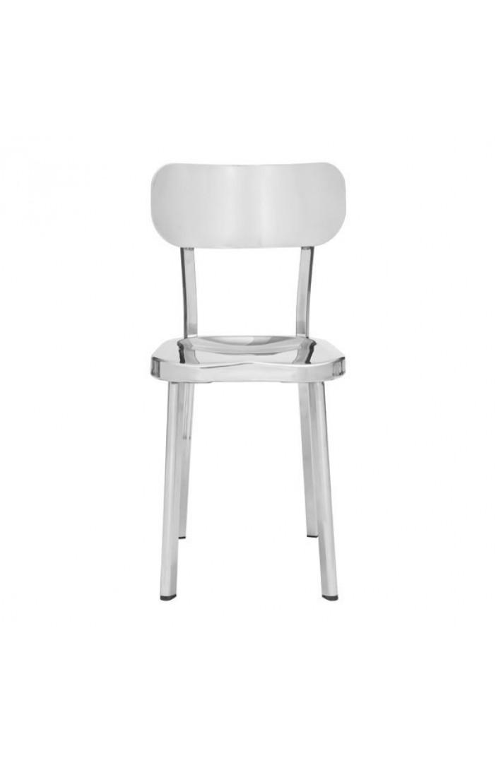 modern chrome dining chair