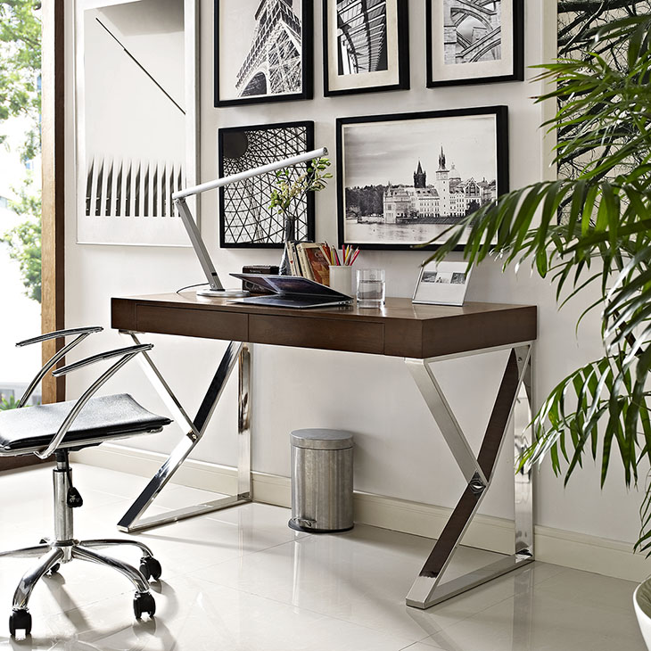 pinnacle walnut wood desk 4