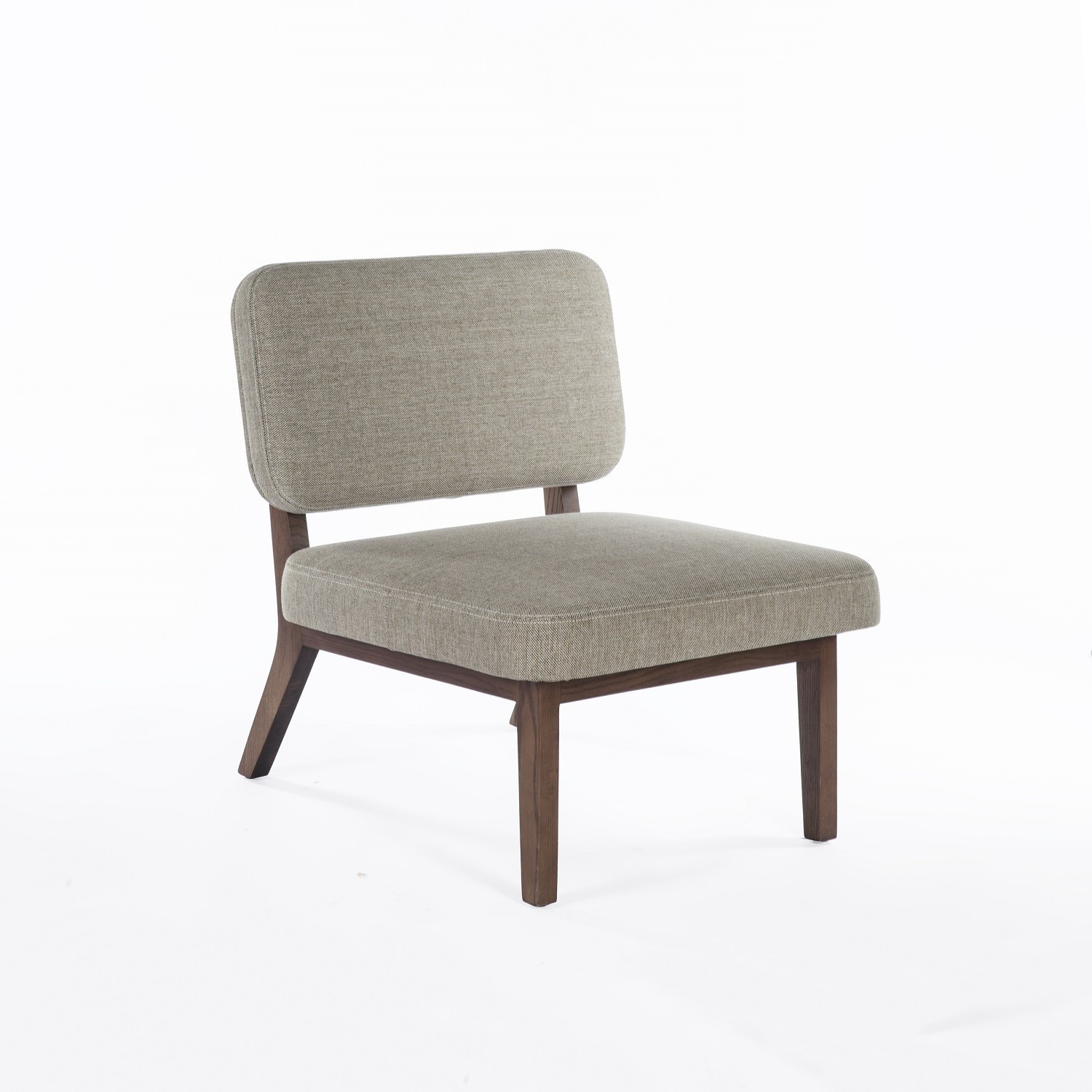soma beige fabric lounge chair