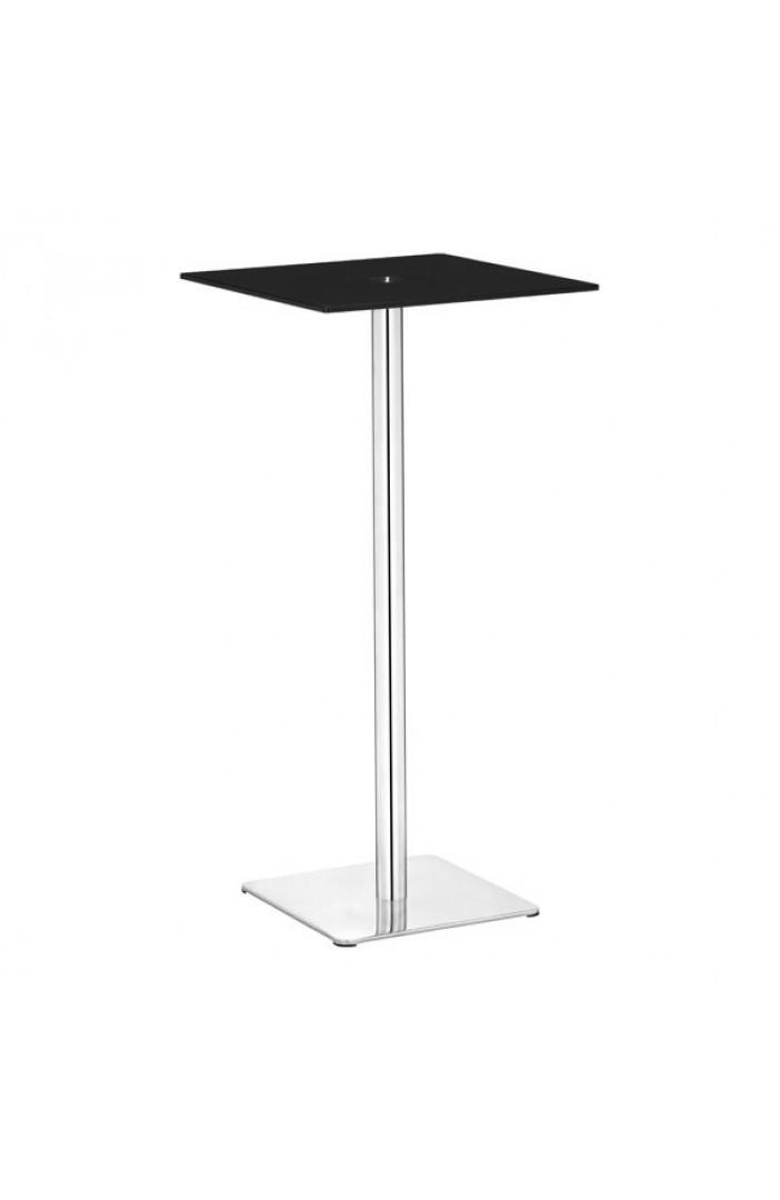 black square glass bar table