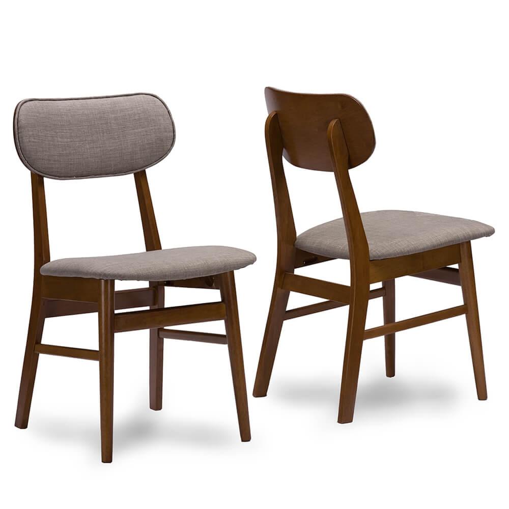 gray fabric mid century chair joma
