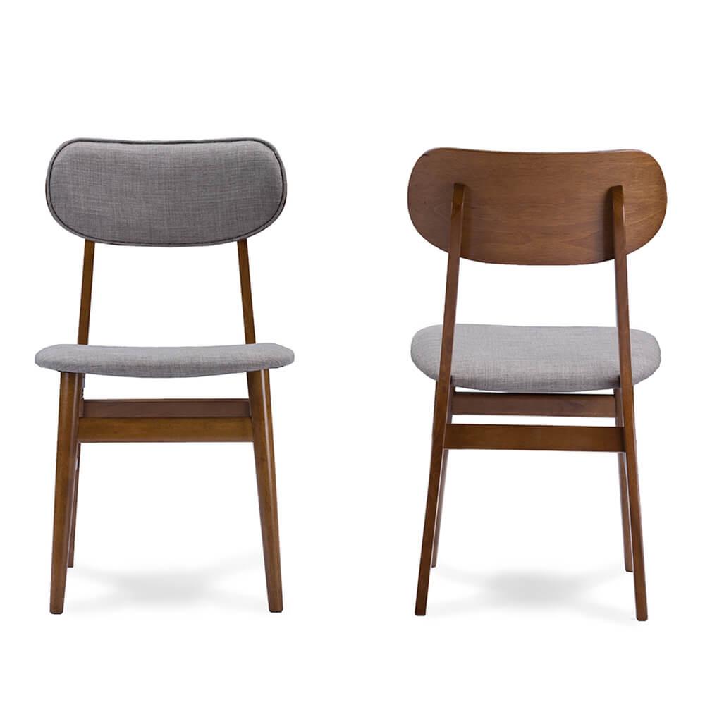 grey fabric mid century chair joma 3