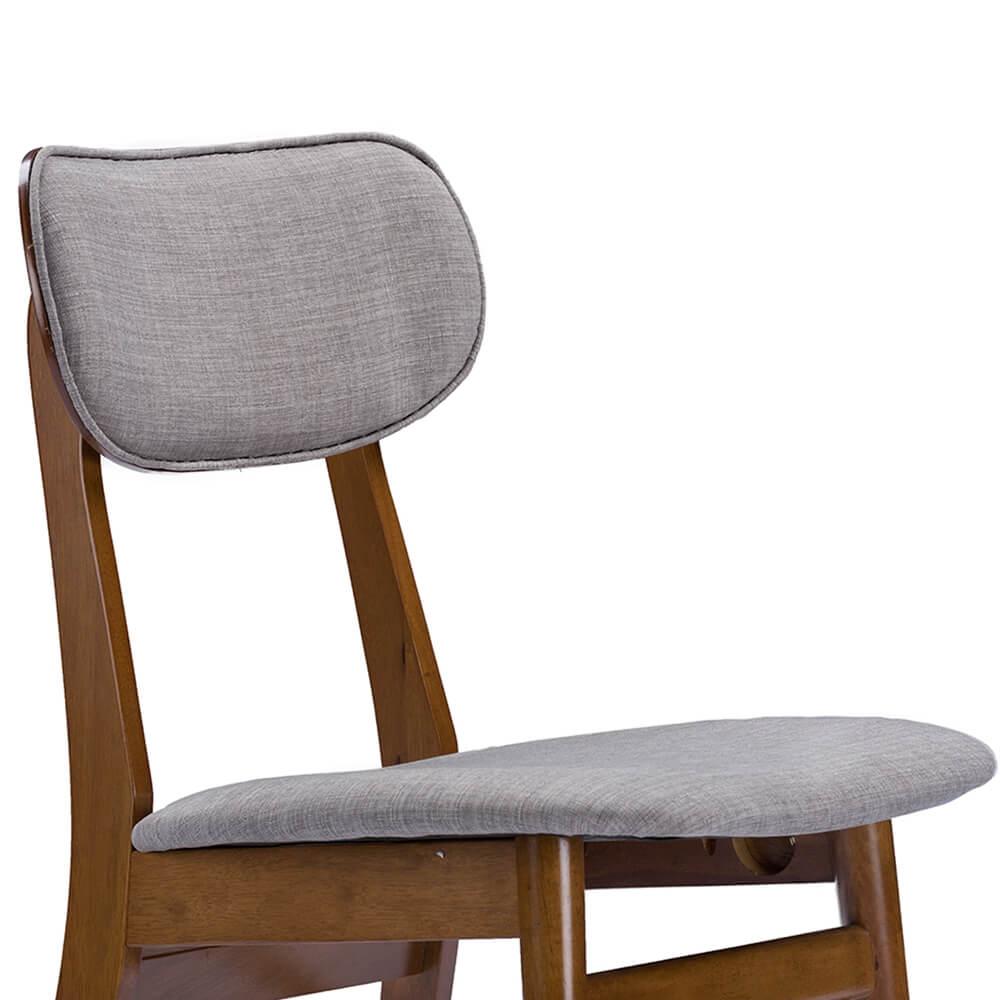 grey fabric mid century chair joma 4