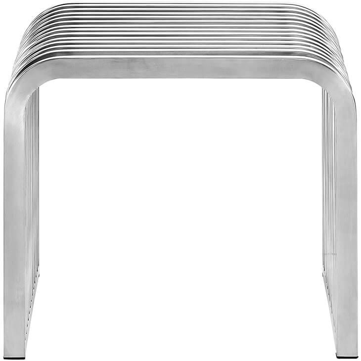 small chrome bench