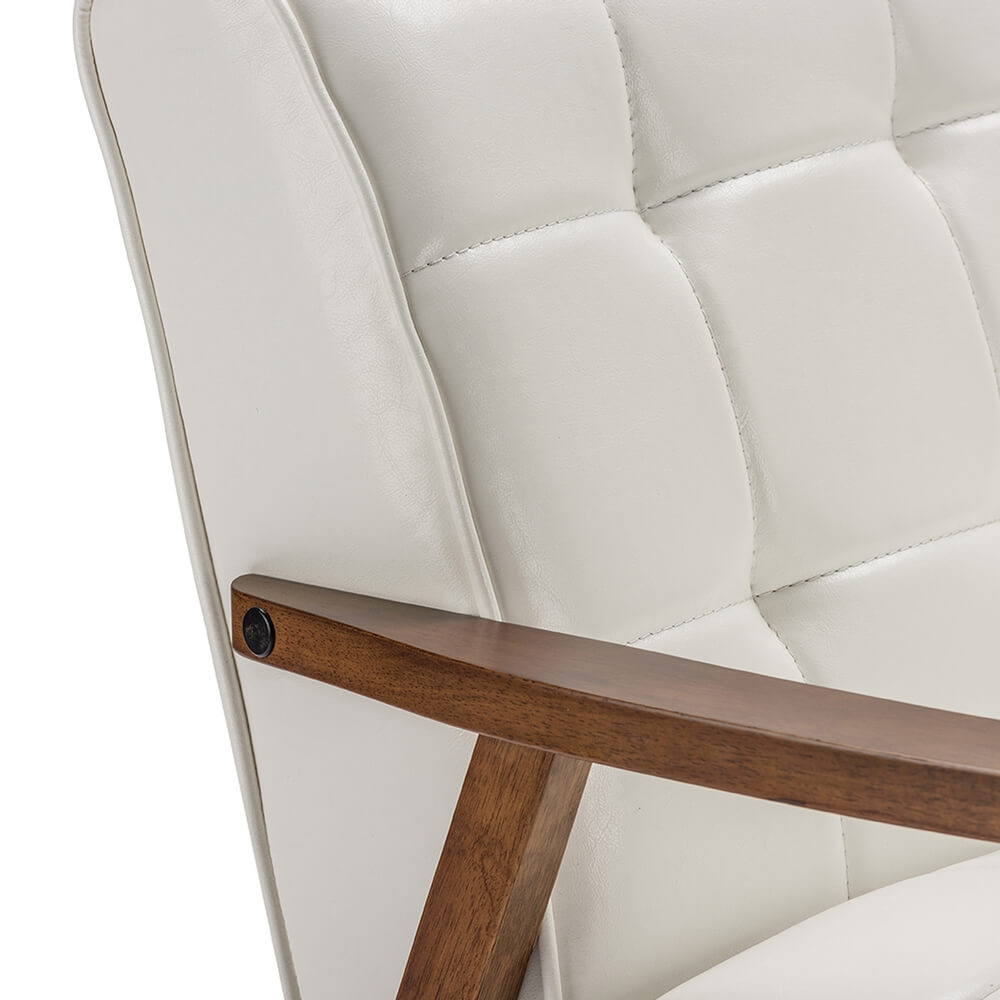 white teleporter armchair 4