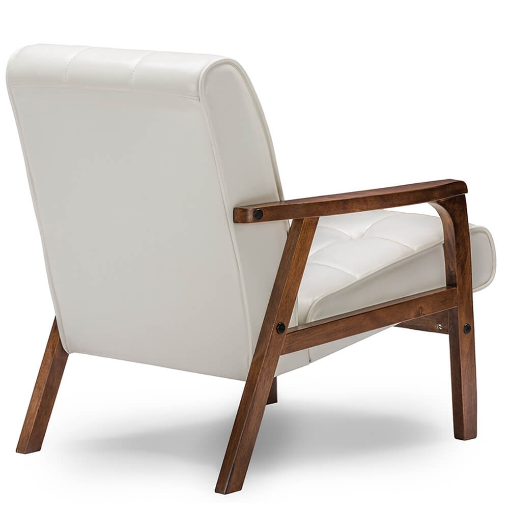white teleporter armchair