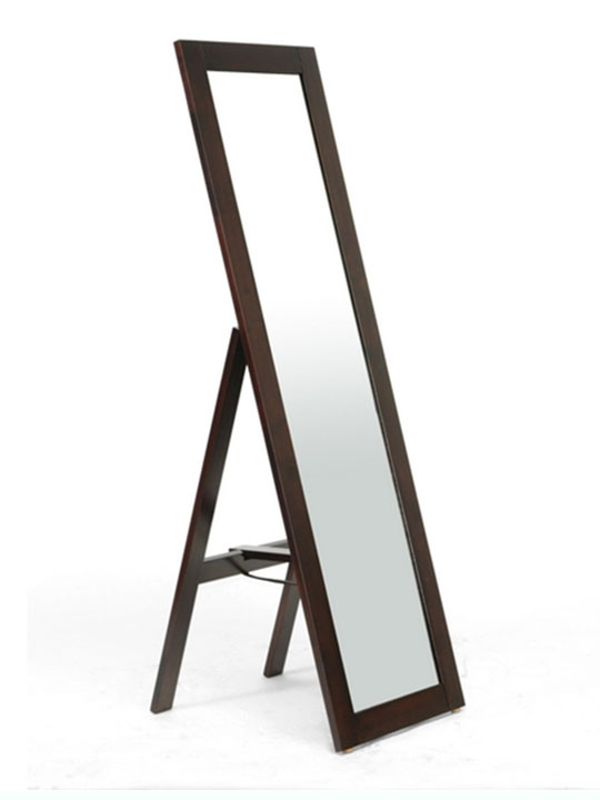 Walnut Wood Full Length Standing Mirror 1
