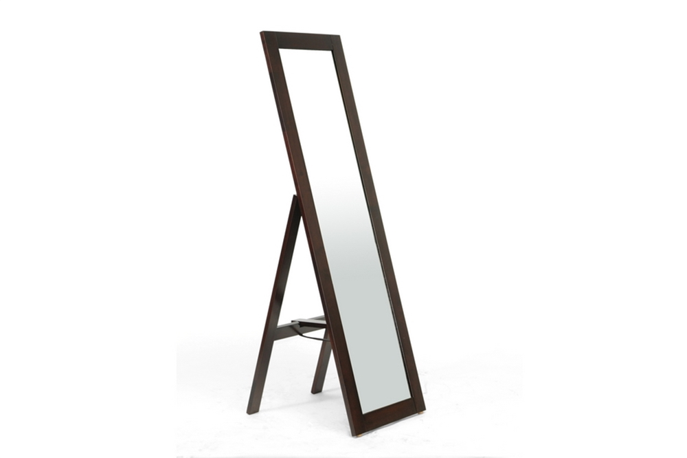 Walnut Wood Full Length Standing Mirror