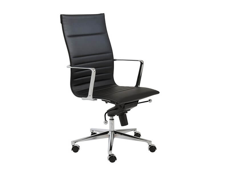 capital high back office chair black 2