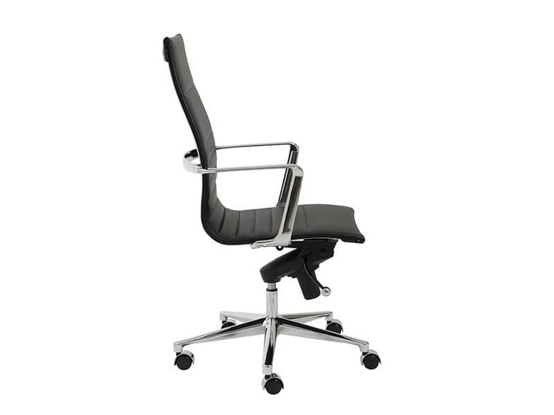 capital high back office chair black 3