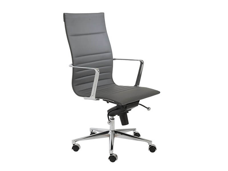 capital high back office chair grey 2