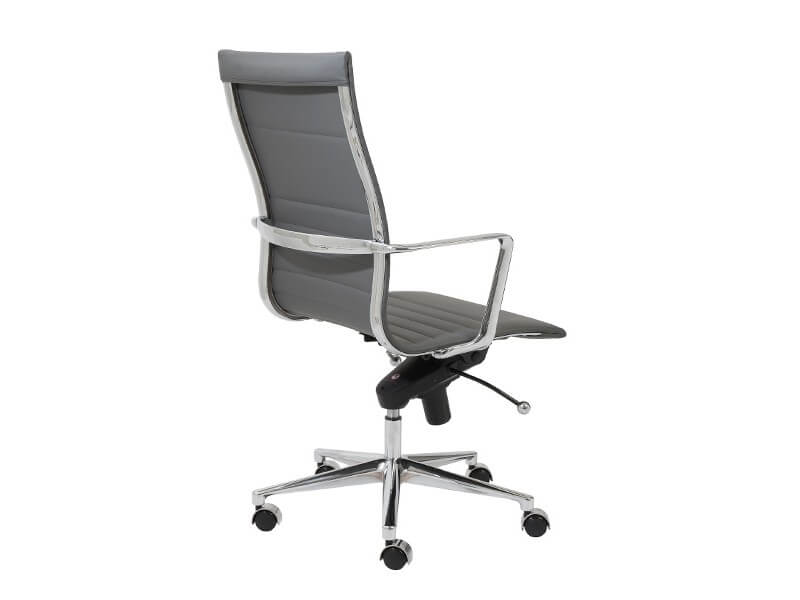 capital high back office chair grey 4