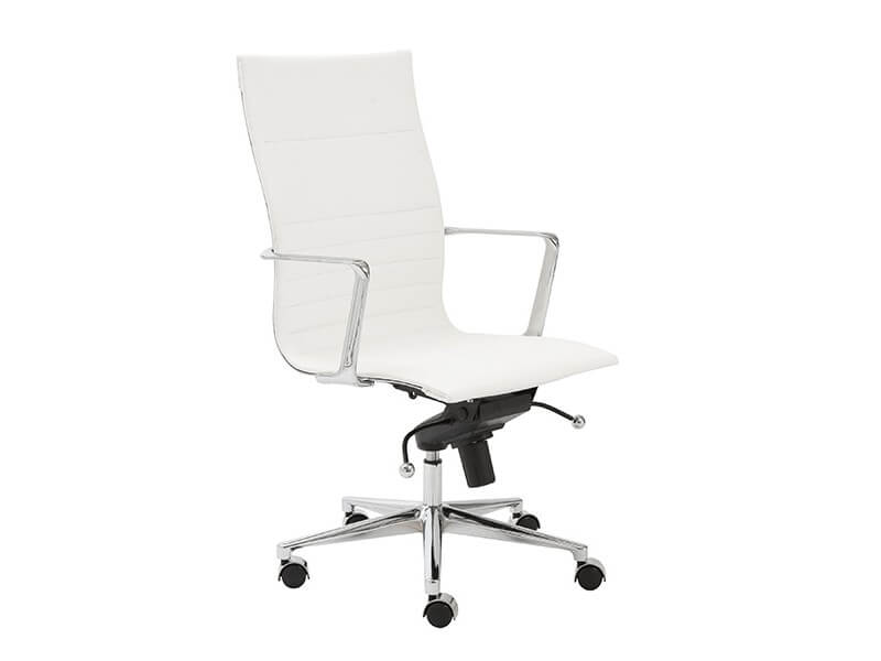 capital high back office chair white 2