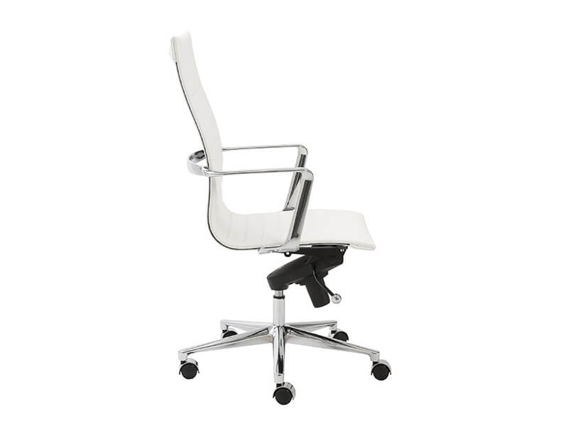 capital high back office chair white 3