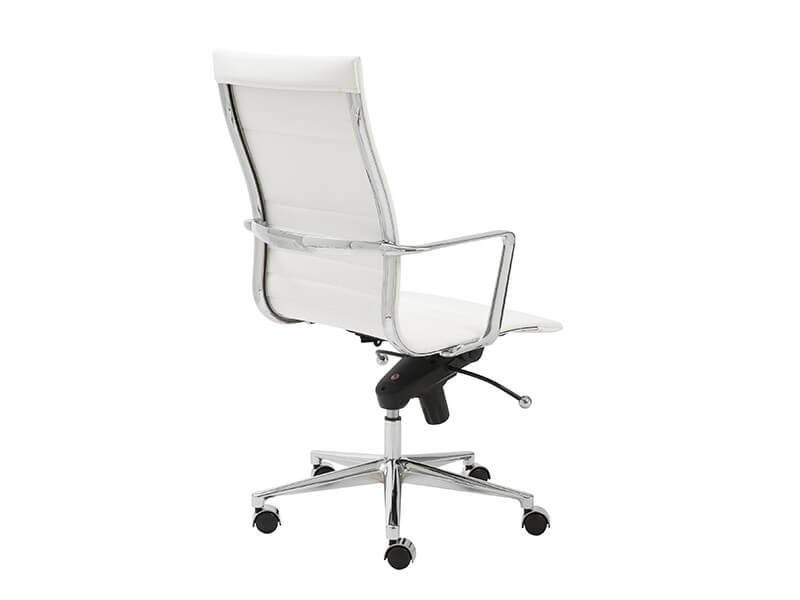 capital high back office chair white 4