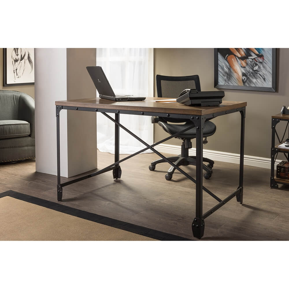 industrial wood desk 5