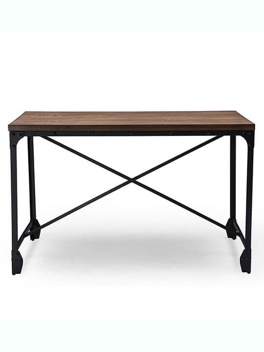 industrial wooden desk