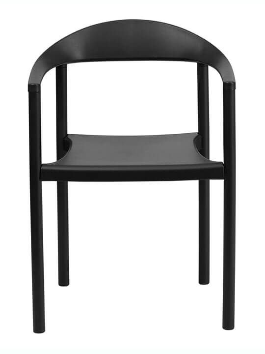 black modern armchair