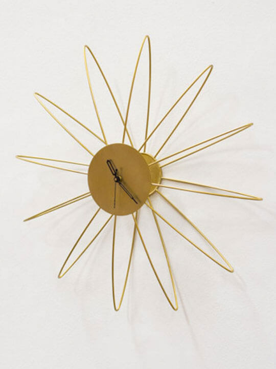 gold wire wall clock