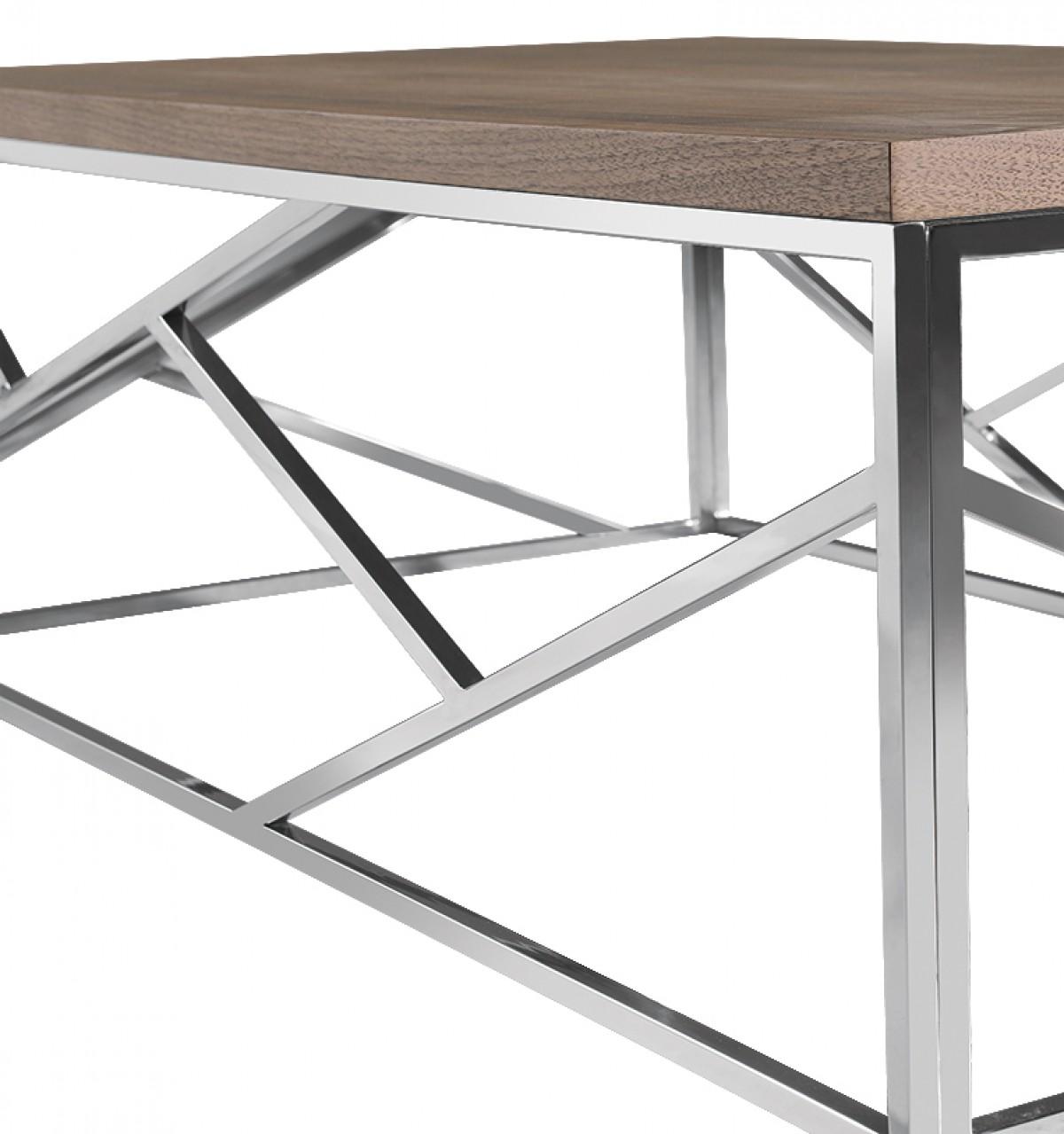 aero chrome wood coffee table 5