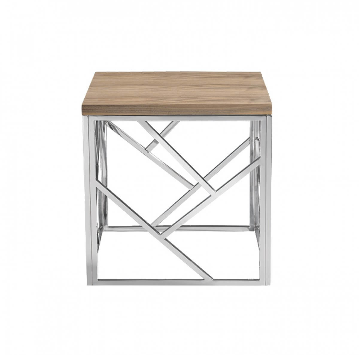 Aero Chrome Wood Side Table 4