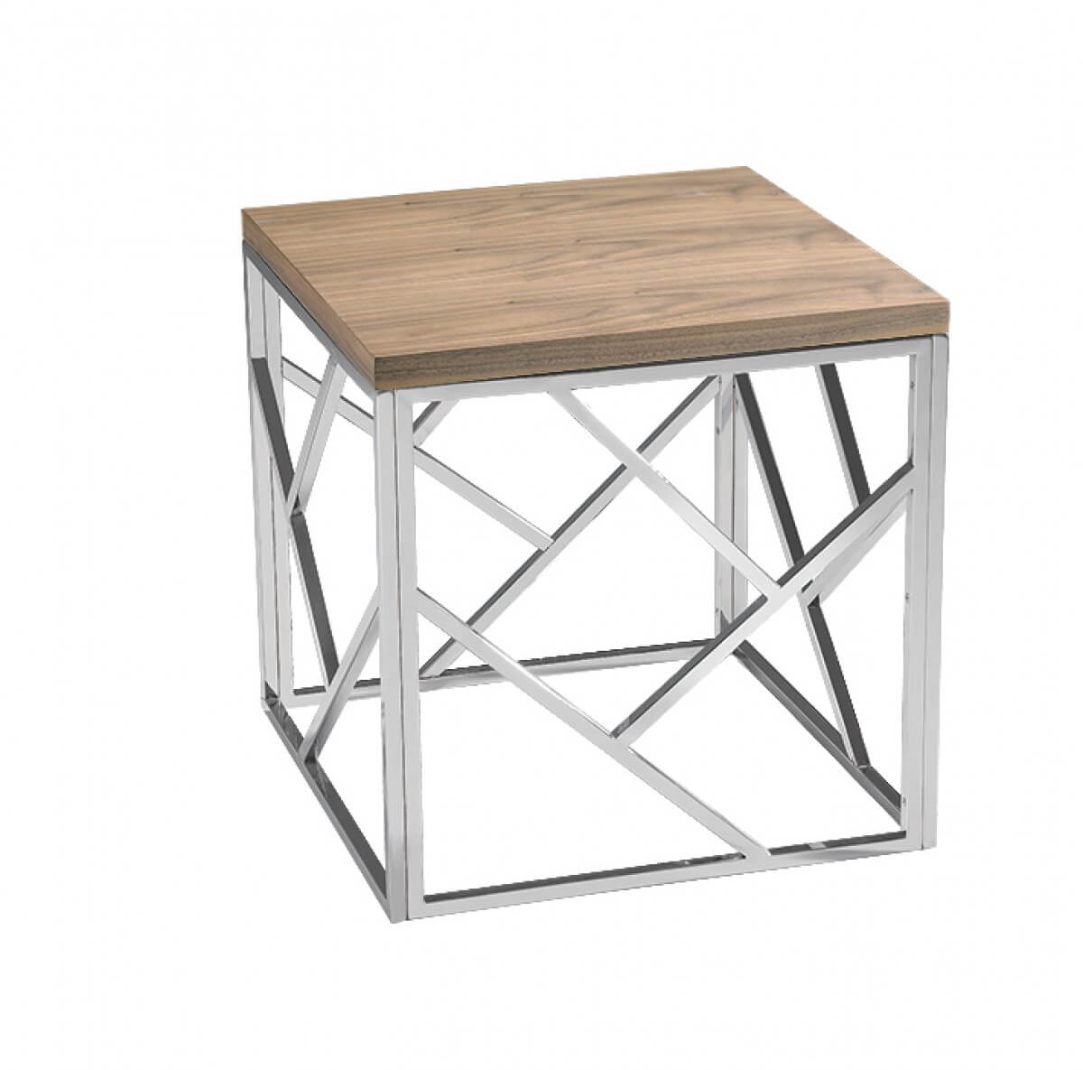 aero chrome wood side table 5