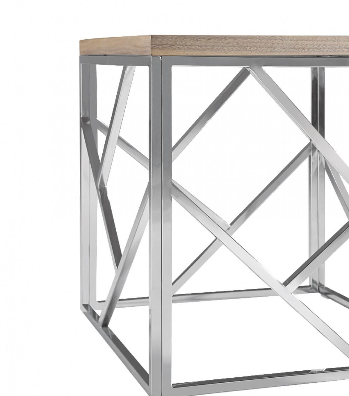 aero chrome wood side table 6