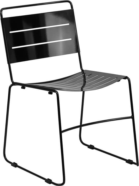 black metal line chair 2