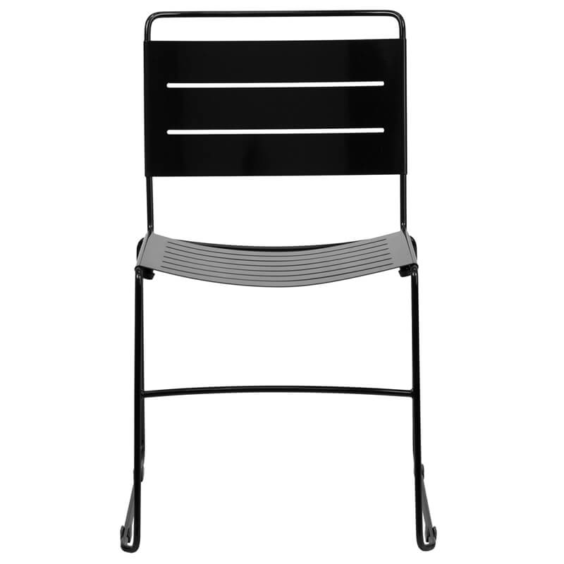 black metal line chair