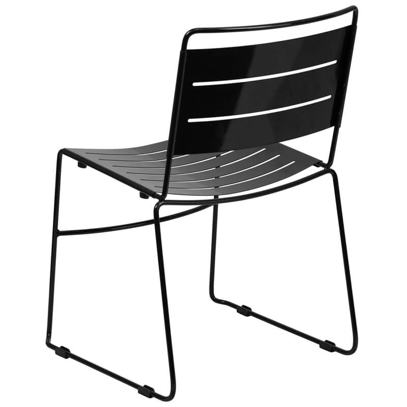 black metal stripe chair