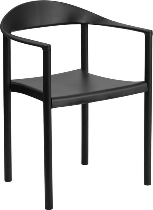 black outdoor cafe chair modern