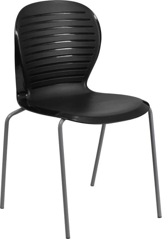 black plastic wave chair