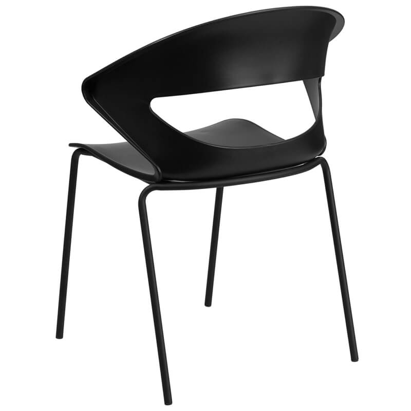 chair curved back black