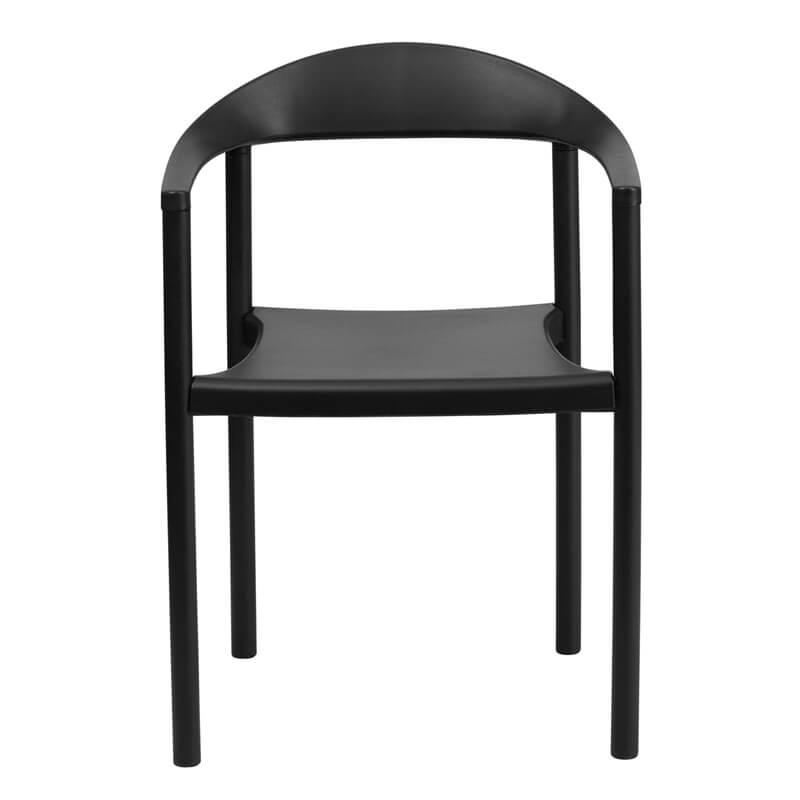 ecru plastic armchair black